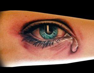фото тату слеза 03.05.2019 №072 - tear tattoo - tattoo-photo.ru
