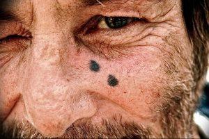 фото тату слеза 03.05.2019 №106 - tear tattoo - tattoo-photo.ru