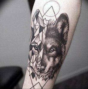 Фото тату волк 20.05.2019 №001 - photo tattoo wolf - tattoo-photo.ru