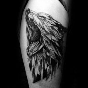 Фото тату волк 20.05.2019 №008 - photo tattoo wolf - tattoo-photo.ru