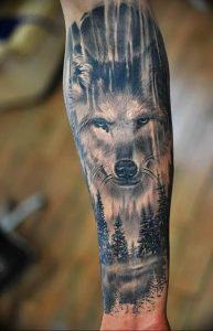 Фото тату волк 20.05.2019 №015 - photo tattoo wolf - tattoo-photo.ru