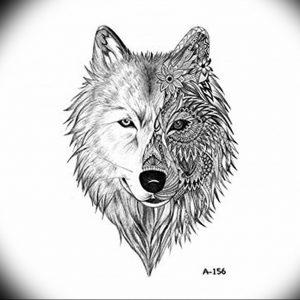 Фото тату волк 20.05.2019 №016 - photo tattoo wolf - tattoo-photo.ru