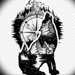 Фото тату волк 20.05.2019 №030 - photo tattoo wolf - tattoo-photo.ru