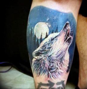 Фото тату волк 20.05.2019 №032 - photo tattoo wolf - tattoo-photo.ru
