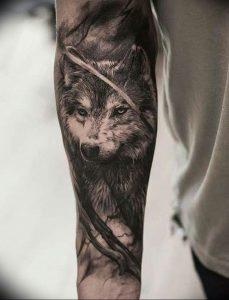 Фото тату волк 20.05.2019 №034 - photo tattoo wolf - tattoo-photo.ru