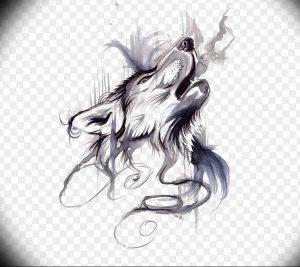 Фото тату волк 20.05.2019 №050 - photo tattoo wolf - tattoo-photo.ru