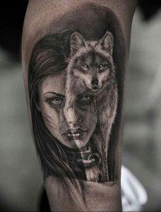 Фото тату волк 20.05.2019 №059 - photo tattoo wolf - tattoo-photo.ru