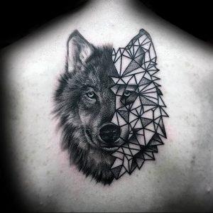 Фото тату волк 20.05.2019 №072 - photo tattoo wolf - tattoo-photo.ru