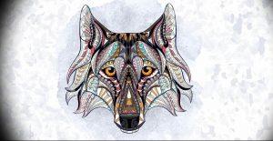Фото тату волк 20.05.2019 №079 - photo tattoo wolf - tattoo-photo.ru