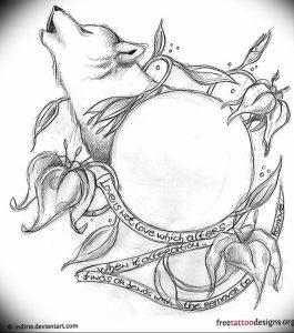Фото тату волк 20.05.2019 №091 - photo tattoo wolf - tattoo-photo.ru