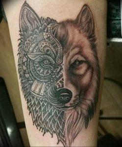 Фото тату волк 20.05.2019 №097 - photo tattoo wolf - tattoo-photo.ru