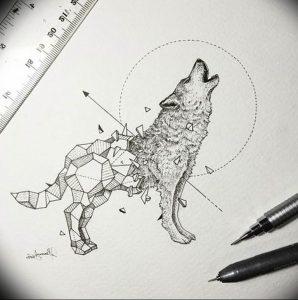 Фото тату волк 20.05.2019 №099 - photo tattoo wolf - tattoo-photo.ru