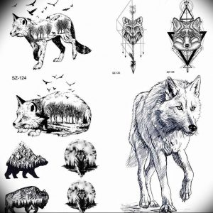 Фото тату волк 20.05.2019 №110 - photo tattoo wolf - tattoo-photo.ru