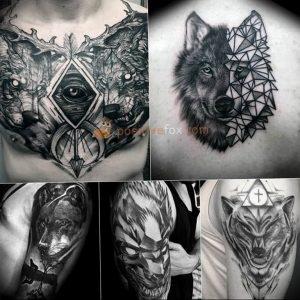 Фото тату волк 20.05.2019 №111 - photo tattoo wolf - tattoo-photo.ru