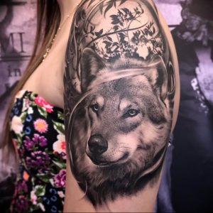 Фото тату волк 20.05.2019 №112 - photo tattoo wolf - tattoo-photo.ru
