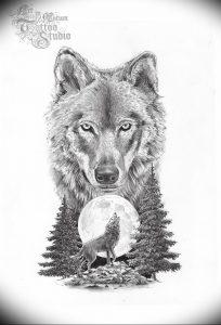 Фото тату волк 20.05.2019 №114 - photo tattoo wolf - tattoo-photo.ru
