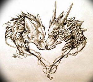 Фото тату волк 20.05.2019 №125 - photo tattoo wolf - tattoo-photo.ru