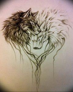 Фото тату волк 20.05.2019 №128 - photo tattoo wolf - tattoo-photo.ru