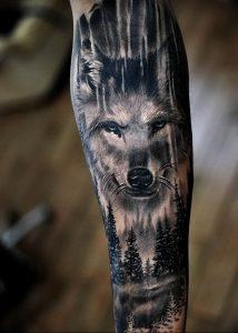 Фото тату волк 20.05.2019 №135 - photo tattoo wolf - tattoo-photo.ru