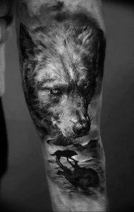 Фото тату волк 20.05.2019 №143 - photo tattoo wolf - tattoo-photo.ru