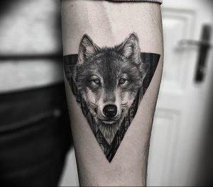 Фото тату волк 20.05.2019 №145 - photo tattoo wolf - tattoo-photo.ru