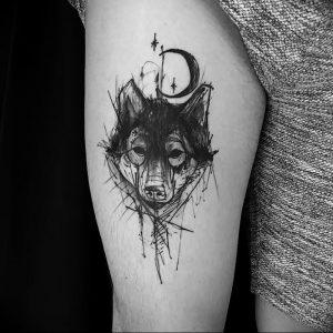 Фото тату волк 20.05.2019 №150 - photo tattoo wolf - tattoo-photo.ru