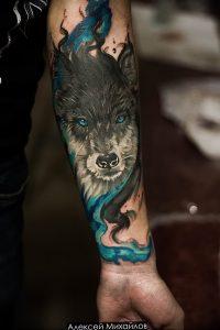 Фото тату волк 20.05.2019 №152 - photo tattoo wolf - tattoo-photo.ru