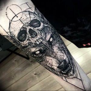 Фото тату волк 20.05.2019 №168 - photo tattoo wolf - tattoo-photo.ru