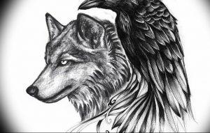 Фото тату волк 20.05.2019 №172 - photo tattoo wolf - tattoo-photo.ru