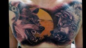 Фото тату волк 20.05.2019 №177 - photo tattoo wolf - tattoo-photo.ru