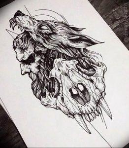Фото тату волк 20.05.2019 №182 - photo tattoo wolf - tattoo-photo.ru