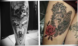 Фото тату волк 20.05.2019 №183 - photo tattoo wolf - tattoo-photo.ru