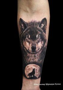 Фото тату волк 20.05.2019 №197 - photo tattoo wolf - tattoo-photo.ru
