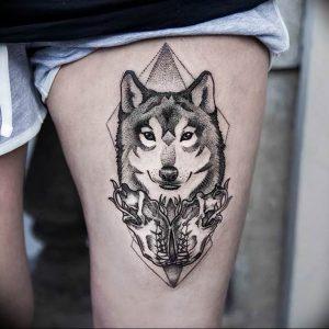 Фото тату волк 20.05.2019 №204 - photo tattoo wolf - tattoo-photo.ru