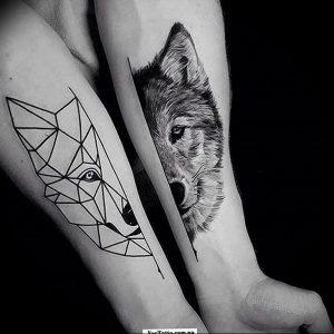 Фото тату волк 20.05.2019 №212 - photo tattoo wolf - tattoo-photo.ru
