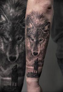 Фото тату волк 20.05.2019 №221 - photo tattoo wolf - tattoo-photo.ru