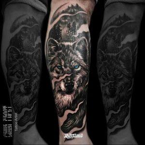 Фото тату волк 20.05.2019 №228 - photo tattoo wolf - tattoo-photo.ru