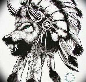 Фото тату волк 20.05.2019 №235 - photo tattoo wolf - tattoo-photo.ru