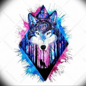 Фото тату волк 20.05.2019 №247 - photo tattoo wolf - tattoo-photo.ru