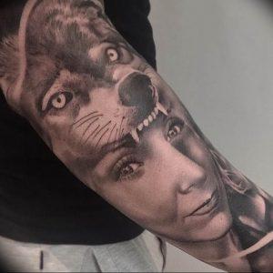 Фото тату волк 20.05.2019 №249 - photo tattoo wolf - tattoo-photo.ru