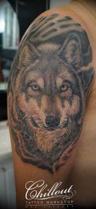 Фото тату волк 20.05.2019 №251 - photo tattoo wolf - tattoo-photo.ru