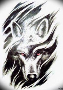Фото тату волк 20.05.2019 №254 - photo tattoo wolf - tattoo-photo.ru