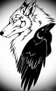 Фото тату волк 20.05.2019 №289 - photo tattoo wolf - tattoo-photo.ru