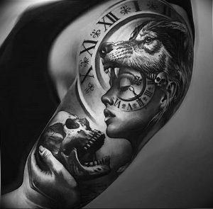 Фото тату волк 20.05.2019 №299 - photo tattoo wolf - tattoo-photo.ru