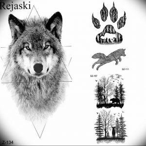 Фото тату волк 20.05.2019 №301 - photo tattoo wolf - tattoo-photo.ru