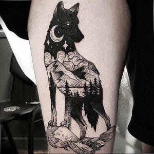 Фото тату волк 20.05.2019 №302 - photo tattoo wolf - tattoo-photo.ru