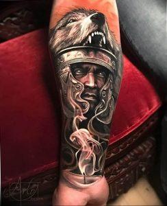 Фото тату волк 20.05.2019 №312 - photo tattoo wolf - tattoo-photo.ru