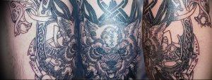 Фото тату волк 20.05.2019 №316 - photo tattoo wolf - tattoo-photo.ru