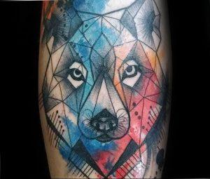 Фото тату волк 20.05.2019 №320 - photo tattoo wolf - tattoo-photo.ru