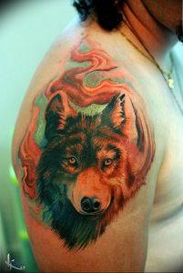 Фото тату волк 20.05.2019 №356 - photo tattoo wolf - tattoo-photo.ru